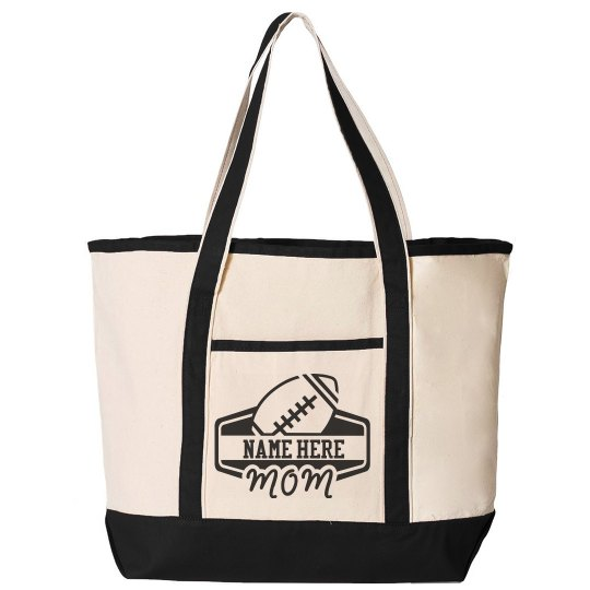 Football Mom Custom Tote Bag