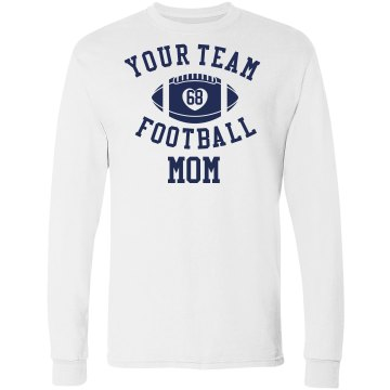 FOOTBALL MOM long sleeve tshirt
