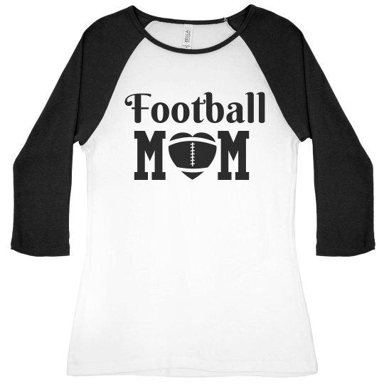 Football Mom Raglan Tee
