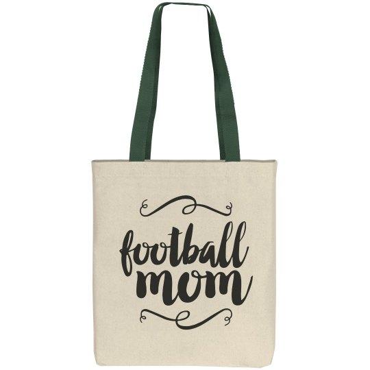 Football Mom Respect Tote Bag