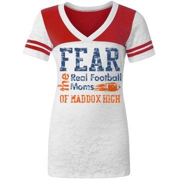 Football Mom Shirt Fear