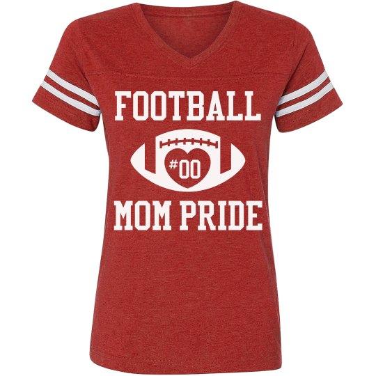 Football Mom Shirts With Custom Text
