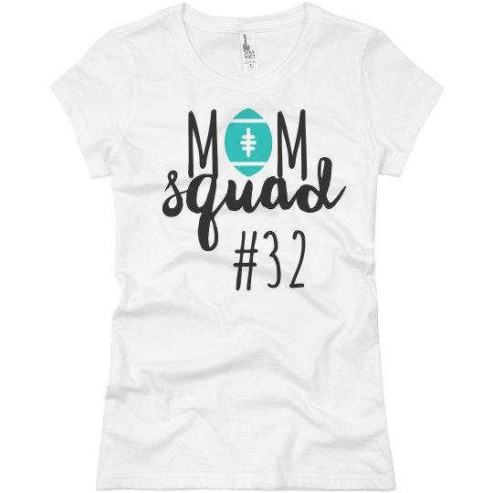 Football Mom Squad Custom Player Number Tee