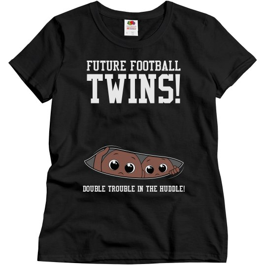 Football Mom to Football Twins Maternity Design Shirt
