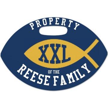 Football Property Tag