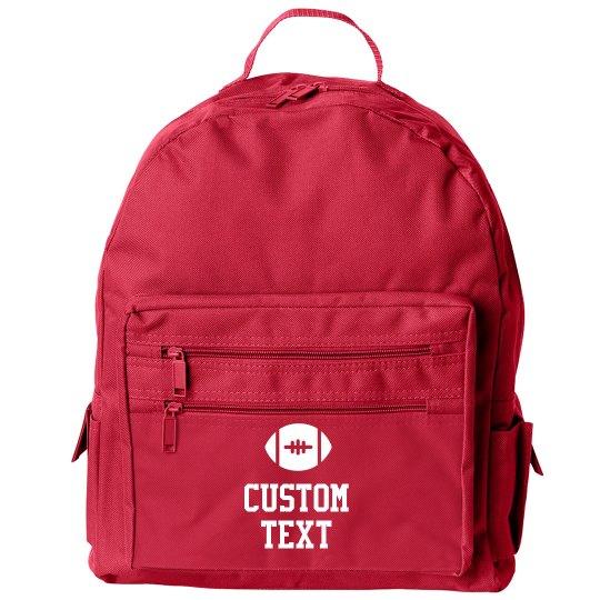 Football Season Custom Backpack