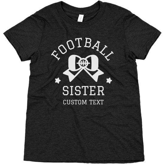 Football Sister Custom Youth Tee