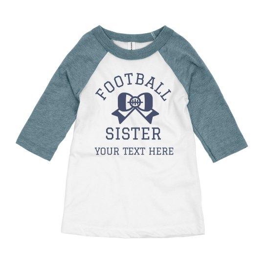 Football Sister Customizable Tee