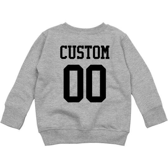 Football Toddler Custom Name Number