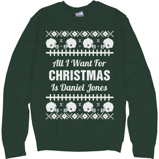 Football Ugly Sweater Daniel Jones