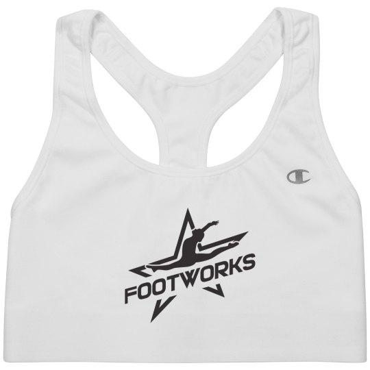 Footworks Logo Sports Bra (White)