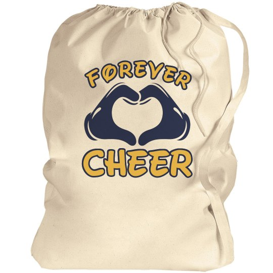 Forever Cheer Design Custom School Colors Laundry Bag
