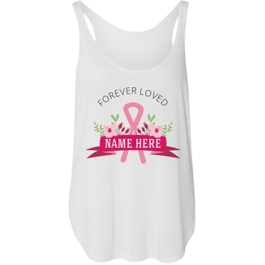 Forever Loved Pink Ribbon Tank Top