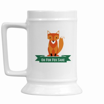 Fox 16 oz. Stein green