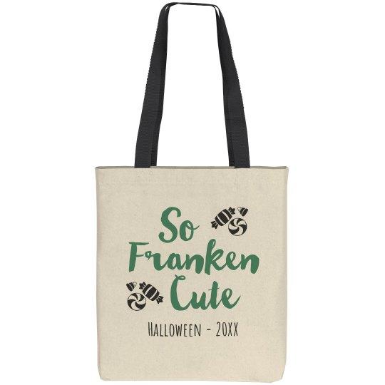 Franken Custom Halloween Tote Bag
