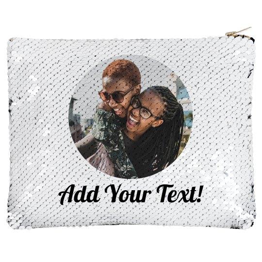Friends Photo Custom Zip Bag