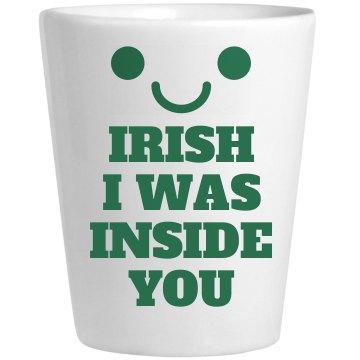 Frisky Irish Whiskey Shot Glass