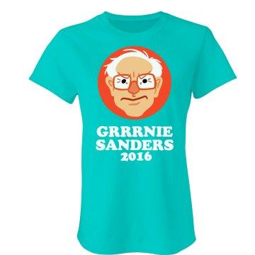 Frustrated Bernie Sanders