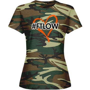 """FTLOW Hash Tag """"Armed And Angelica"""" Camo Tee"""