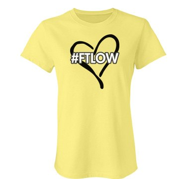 "FTLOW Hash Tag ""Hira Yellow"" Tee"