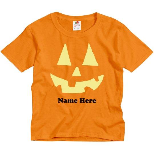 Fun Kids Custom Pumpkin Tee
