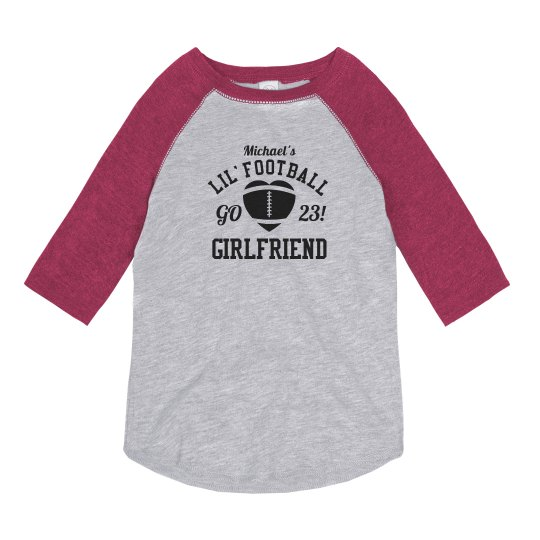 Fun Little Football Girlfriend With Custom Name Number