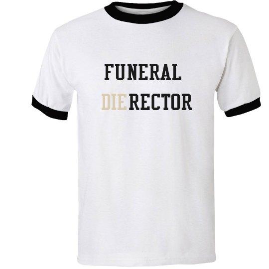 Funeral Director Cuffed Tee
