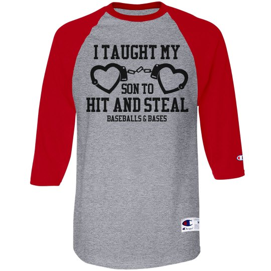Funny Baseball Mom Hit & Steal Wordplay Custom Jersey