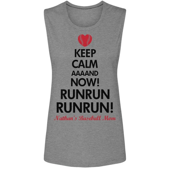 Funny Baseball Mom Keep Calm Sleeveless Design