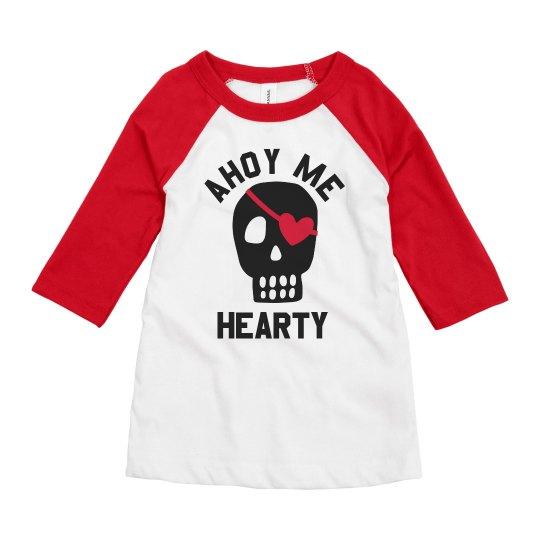 Funny Boys Valentine Pirate Hearty