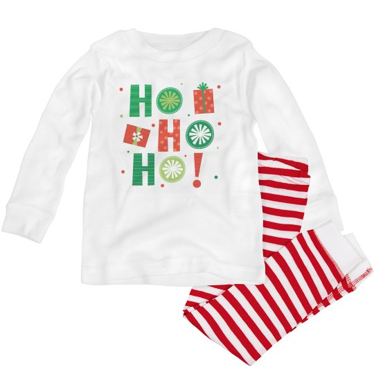 Funny Christmas pajamas say Ho Ho Ho for toddlers