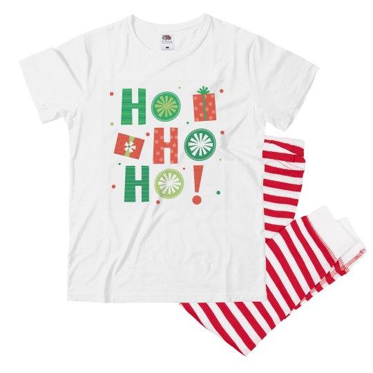 Funny Christmas pajamas say Ho Ho Ho for youth