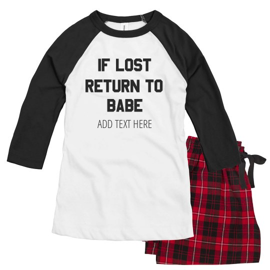 Funny Custom If Lost Return To Babe