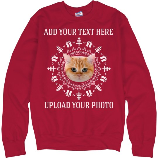 Funny Custom Photo Upload Ugly Sweater