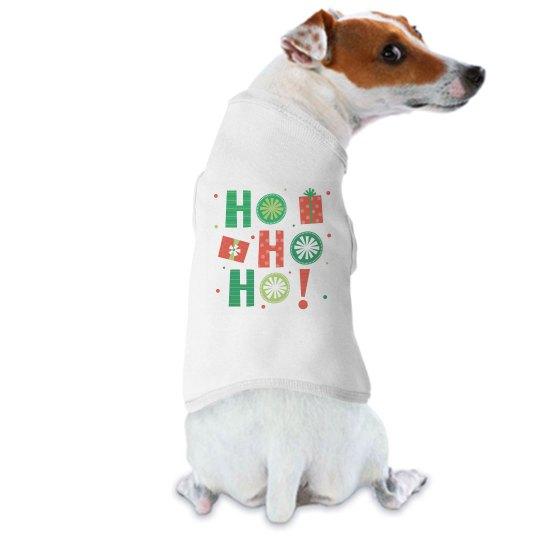 Funny dog Christmas shirt say Ho Ho Ho