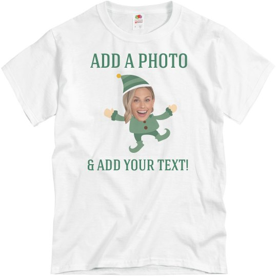 Funny Elf With Your Custom Photo