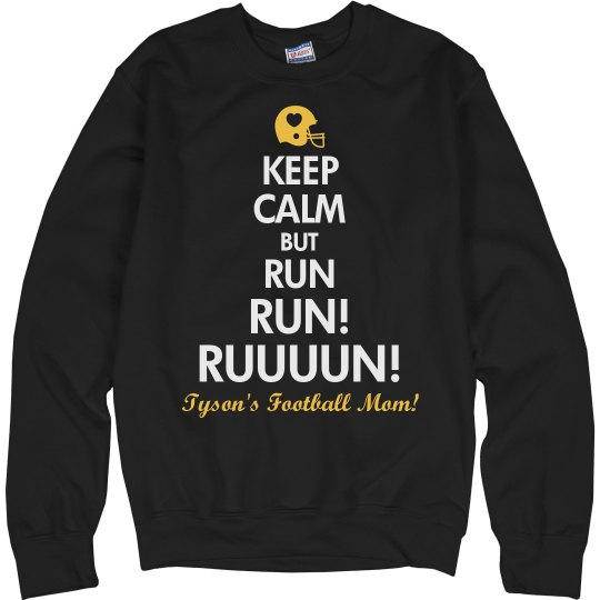 Funny Football Mom Sweater With Custom Name and Colors