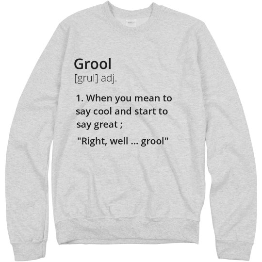 Funny Grool Definition Design