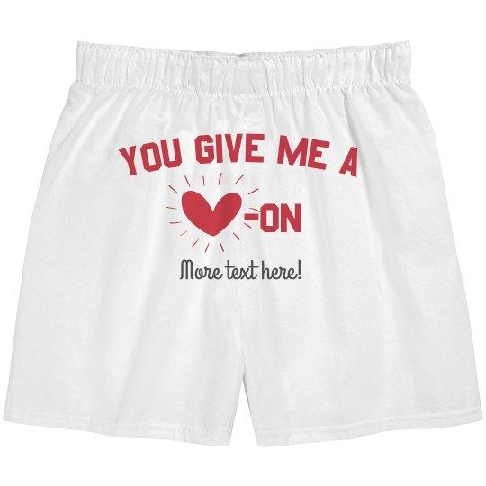 Funny Heart Custom Boxers
