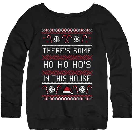Funny Ho Ho Ho Santa Hat Sweater