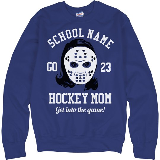 Funny Hockey Mom Sweater With Name Number