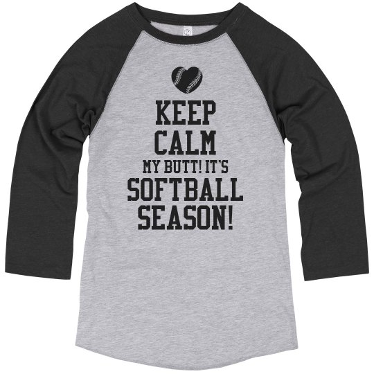 Funny Keep Calm Softball Mom Shirt With Number