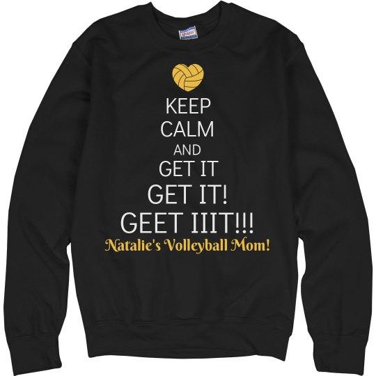 Funny Keep Calm Volleyball Mom Shirt With Custom Name