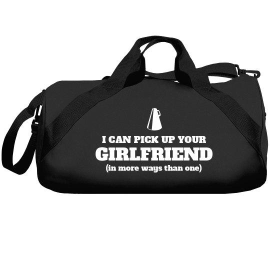 Funny Male Cheerleader Custom Gear Bag