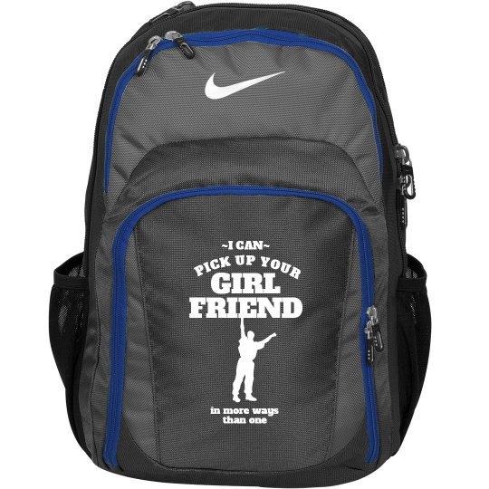 Funny Male Cheerleader Custom Nike Bag