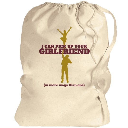 Funny Male Cheerleader Pride Pickup Line Custom Bag