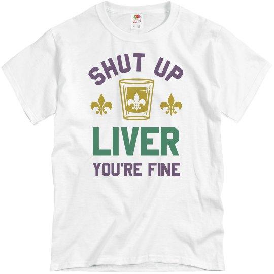 Funny Mardi Gras Drinking Shirt