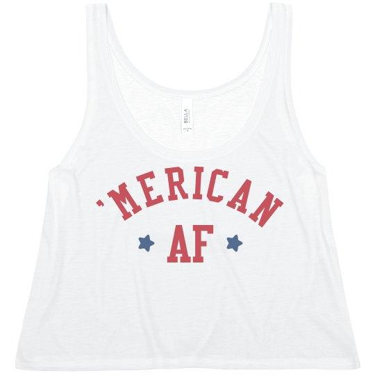 Funny Patriotic Merica AF