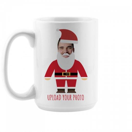 Funny Photo Upload Santa Mug