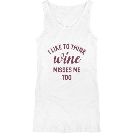 Funny Pregnancy Wine Misses Me Too